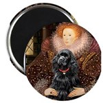 Queen / Cocker Spaniel (blk) Magnet