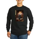 Queen / Cocker Spaniel (blk) Long Sleeve Dark T-Sh