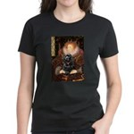 Queen / Cocker Spaniel (blk) Women's Dark T-Shirt