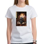 Queen / Cocker Spaniel (blk) Women's T-Shirt