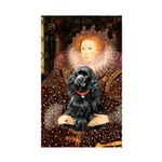 Queen / Cocker Spaniel (blk) Sticker (Rectangle 50