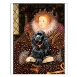 Queen / Cocker Spaniel (blk) Small Poster