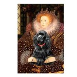 Queen / Cocker Spaniel (blk) Postcards (Package of