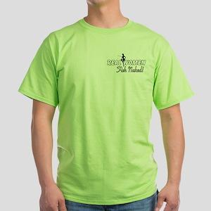 Real Women Fish Naked Green T-Shirt