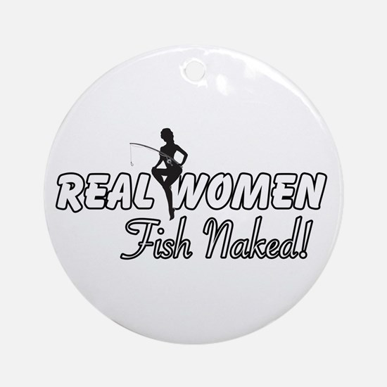 Real Women Fish Naked Ornament (Round)