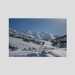 Chimgan Ski Slope Rectangle Magnet