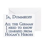 Dummkopf3 white Greeting Cards