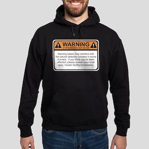 Warning Label Hoodie (dark)