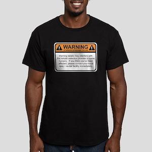 Warning Label Men's Fitted T-Shirt (dark)