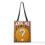 ASK ME Polyester Tote Bag