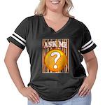 Ask Me Women's Plus Size Football T-Shirt