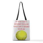 tennis, Polyester Tote Bag