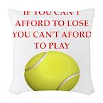 tennis, Woven Throw Pillow