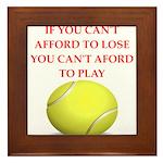 tennis, Framed Tile