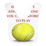 tennis, Polyester Baby Bib