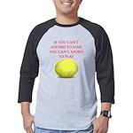 tennis, Mens Baseball Tee