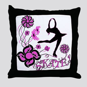 Skate! Throw Pillow