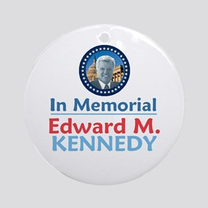 Ted Kennedy Memorial Ornament (Round)