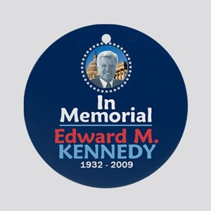 Ted Kennedy In Memorial Ornament (Round)