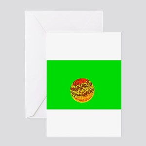 Golf Ball / Father's Day Greeting Card (Green)