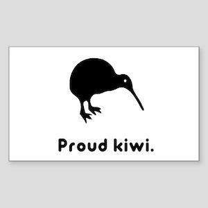 Proud Kiwi Rectangle Sticker