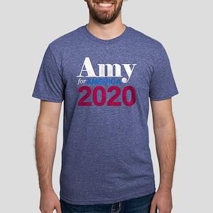 Amy for America Mens Tri-blend T-Shirt