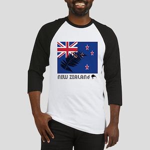 New Zealand Flag Silver Fern Baseball Jersey