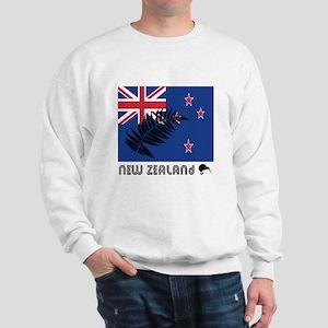 New Zealand Flag Silver Fern Sweatshirt