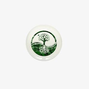 Yin Yang Tree Mini Button