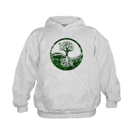 Yin Yang Tree Kids Hoodie
