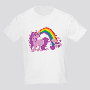 GIRLY UNICORN Kids Light T-Shirt