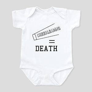 Cheerleading Equals Death Infant Bodysuit