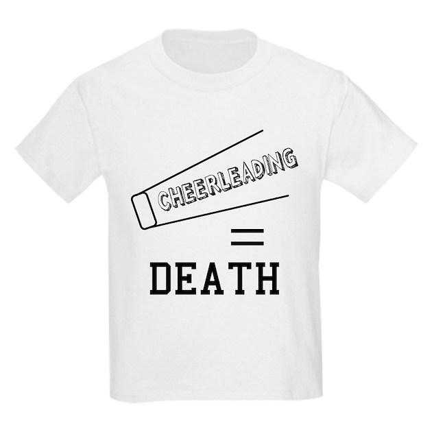 Cheerleading Equals Death Kids Light T Shirt Cheerleading