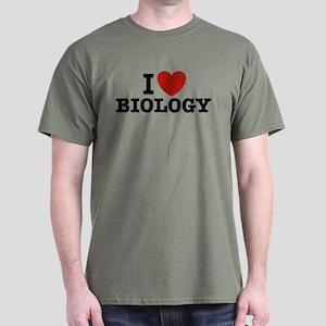 I Love Biology Dark T-Shirt
