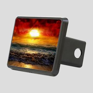 Ocean Heat Sunset Rectangular Hitch Cover