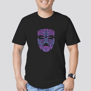 purple moko Men's Fitted T-Shirt (dark)