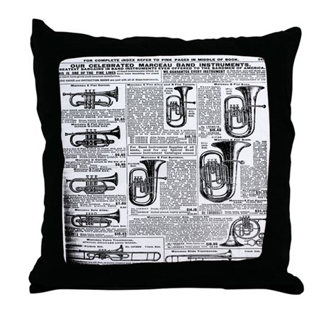 Sears Catalog Tuba Page Throw Pillow