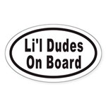 Li'l Dudes On Board Oval Sticker
