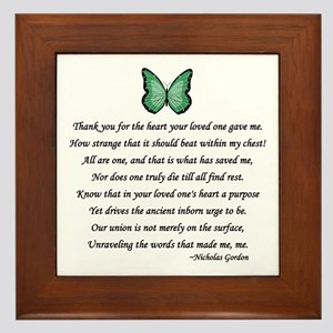 Donor Thank You Poem Framed Tile