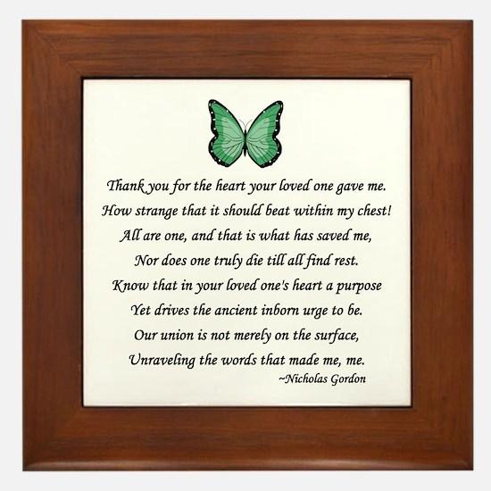 Donor Thank You Poem Framed Tile