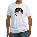 Night Flight/Horse (Ar-W) Fitted T-Shirt