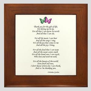 Gift of Life Poem Framed Tile
