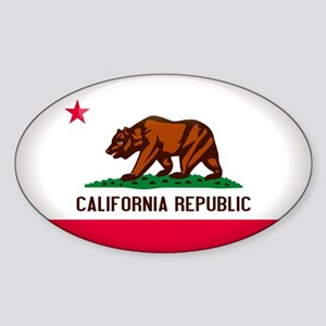 California Crest Oval Sticker
