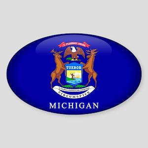 Michigan Oval Sticker