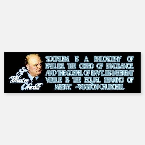 Churchill on Socialism Bumper Bumper Bumper Sticker