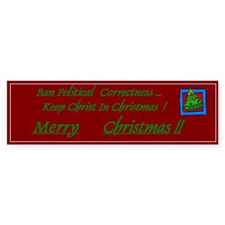Keep Christ In Christmas Bumper Sticker