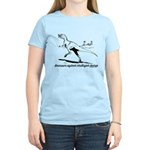 Dinosaurs against intelligent Women's Light T-Shir