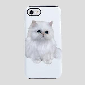 Cute white Persian Cat iPhone 7 Tough Case