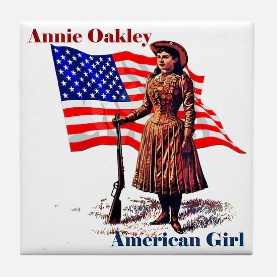 Cute American mom Tile Coaster