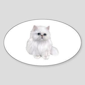 white Persian Cat Sticker